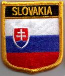 Slovakia Embroidered Flag Patch, style 07.